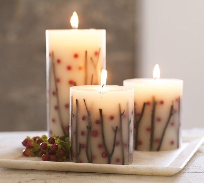 Декоративная свеча своими руками