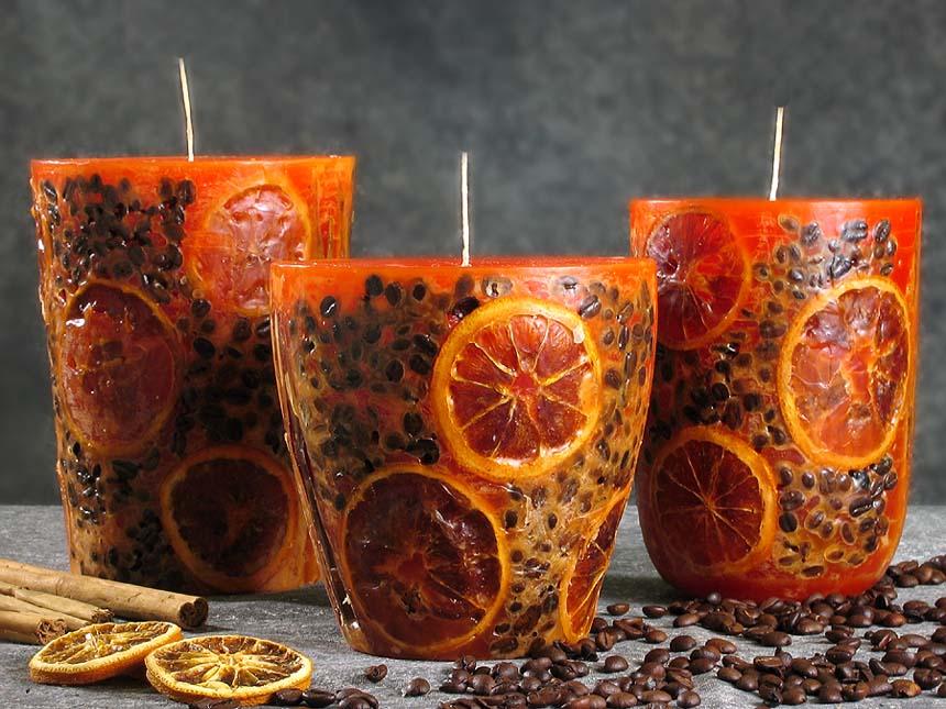 Свечи новогодние ароматизированные своими руками