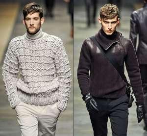 Мужская мода осень 2012. Многослойность в одежде. Воротник-хомут и водолазки