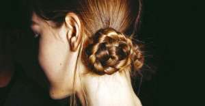 Прическа узел из кос от Mark Jacobs. Пошаговая инструкция