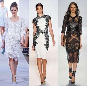 Романтические кружева - модный тренд весны 2013
