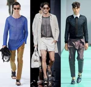 Модные мужские тренды весенне-летнего сезона 2013 – прозрачные ткани и прозрачный трикотаж