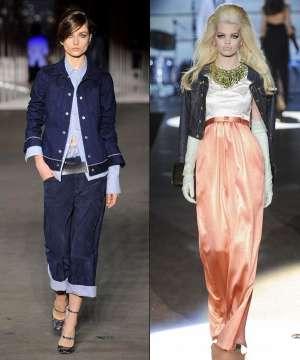 Джинсовая одежда - модный тренд осени 2012