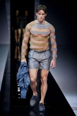 Модные мужские тренды весенне-летнего сезона 2013 - прозрачные ткани и прозрачный трикотаж