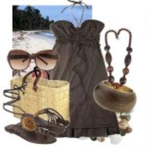 Варианты сочетания одежды для пляжа