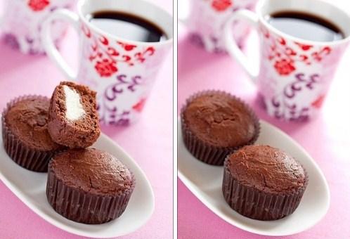 Шоколадно – творожные кексы